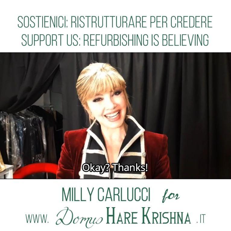 Milly Carlucci #backtodomusharekrishna